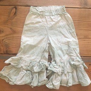 Persnickety bloomer pant ruffle size 4 year green